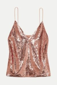 Veronica Beard - Coda Sequined Georgette Camisole - Pink