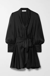 Safiyaa - Kora Draped Asymmetric One-shoulder Stretch-crepe Top - Fuchsia