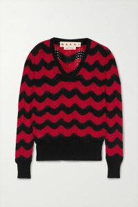 Chloé - Embroidered Wool-blend Sweater - Beige