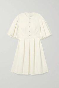 Cloe Cassandro - Santi Cropped Printed Silk-crepon Wrap Top - Pastel pink