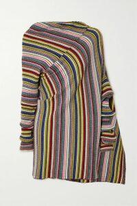 Helmut Lang - Open-back Ribbed-knit Mini Dress - Black