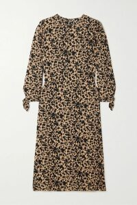 Stella McCartney - Intarsia Wool-blend Wide-leg Pants - Gray