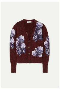 Chloé - Jacquard-knit Cardigan - Burgundy