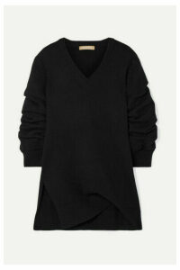 Michael Kors Collection - Asymmetric Ruched Cashmere Sweater - Black