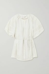 Art Dealer - Chloe Silk-jacquard Wrap Top - Fuchsia