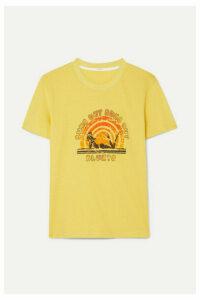 Zimmermann - Goldie Printed Cotton-jersey T-shirt - Yellow