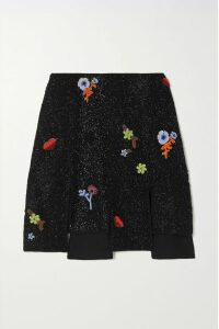 Balenciaga - Oversized Embroidered Cotton-jersey T-shirt - Black