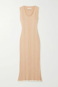 Tory Burch - Tie-front Silk Crepe De Chine And Cotton Blouse - Pink