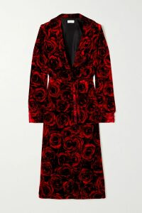 Roland Mouret - Raywell Draped Wool-crepe Top - Light blue