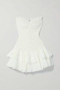 Roland Mouret - Pontal Draped Silk-satin Jacquard Halterneck Top - Red