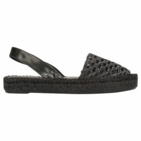 Alohas  Espadrilles sandals IBIZAS RATTAN  women's Espadrilles / Casual Shoes in Black