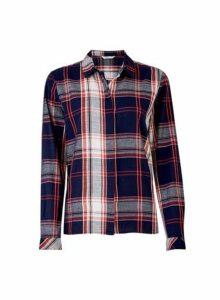 Womens **Only Blue Check Print Shirt, Blue