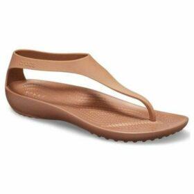 Crocs  Serena Flip Womens Toe Post Sandals  women's Sandals in Brown