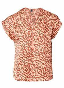 Womens *Izabel London Red Animal Print Blouse, Red