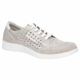 Hush puppies  Molly Womens Lace Up Trainers  women's Shoes (Trainers) in Silver