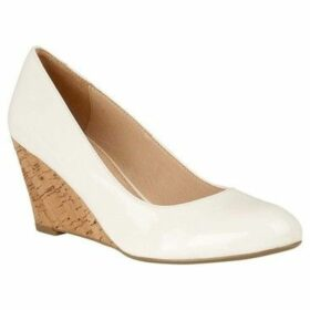 Lotus  Georgia Womens Wedge Heel Shoes  women's Court Shoes in White