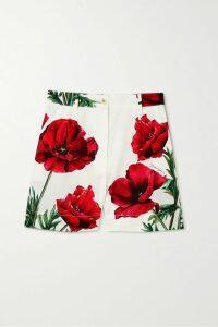 Emilia Wickstead - Shirred Floral-print Crepe De Chine Midi Dress - Baby pink