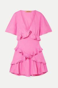 Maggie Marilyn - + Net Sustain The Jones Ruffled Crepe De Chine Mini Dress - Pink
