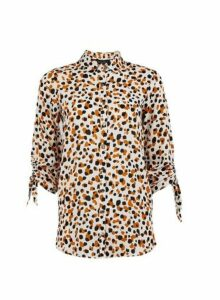 Womens Yellow And Black Longline Shirt- Multi, Multi