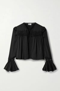 Erdem - Yvonna Floral-print Satin-jacquard Blouse - White