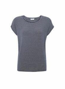 Womens Vero Moda Navy Short Sleeve Stripe Print T-Shirt - Blue, Blue
