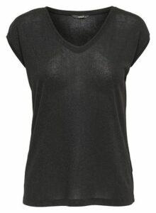 Womens **Only Black T-Shirt, Black