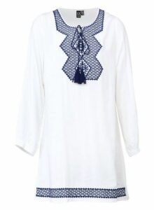 Womens *Izabel London Cream Tribal Smock Top- White, White