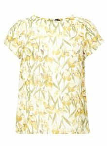 Womens *Izabel London White Summer Floral Print T-Shirt - Multi, Multi