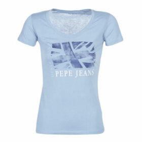 Pepe jeans  ALIYAH  women's T shirt in Blue