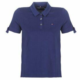 Tommy Hilfiger  BRITT PQ POLO SS  women's Polo shirt in Blue
