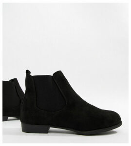 New Look Suedette Chelsea Ankle Boot-Black