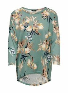 Womens **Only Sage Floral Print Swing Top- Multi Colour, Multi Colour