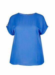 Womens Dp Curve Cobalt Soft T-Shirt, Cobalt