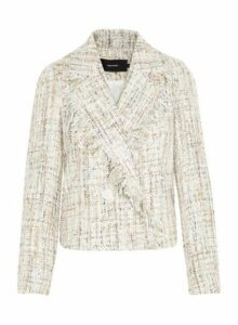 Womens **Vero Moda Cream Boucle Jacket, Cream