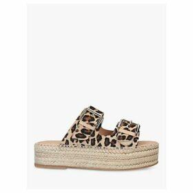 Carvela Kleverer Leather Slip On Sandals, Brown/Multi