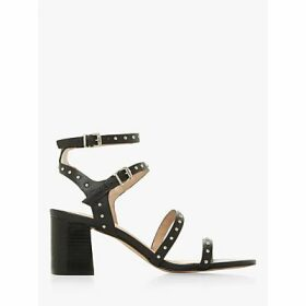 Dune Jayley Leather Studded Sandals, Black