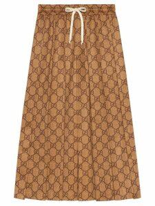 Gucci GG technical jersey skirt - Brown