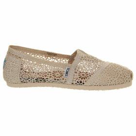 Toms Classic crochet shoes, Women's, Size: 7, Natural crochet