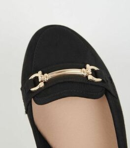 Black Suedette Bar Front Loafers New Look Vegan