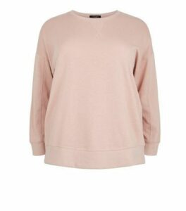 Curves Pale Pink Sweatshirt New Look