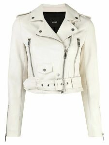 Lth Jkt Mya biker jacket - White