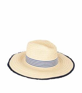 Tara Stripe Band Straw Hat