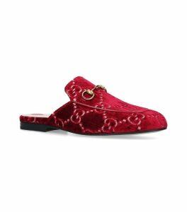 Velvet Princetown GG Slippers