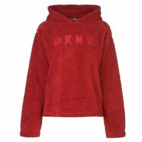 DKNY Logo Teddy Hoodie Ladies