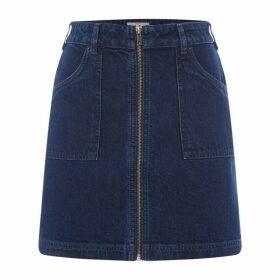 Jack Wills Brentry Denim Skirt - Indigo