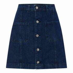 JDY Selena Skirt - Medium Blue
