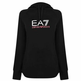 EA7 Logo Hooded Sweatshirt - Black