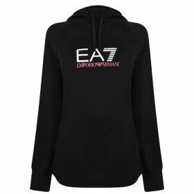 EA7 Logo Hooded Sweatshirt - Black 1200