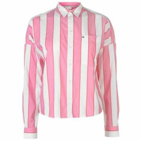 Tommy Jeans Tommy Cropped Boxy Shirt Womens - Shocking Pink