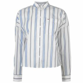 Tommy Jeans Tommy Cropped Boxy Shirt Womens - PASTEL STRIPE